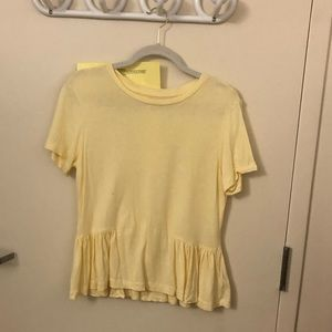 Aritzia Sunday Best Yellow Ruffle Tee